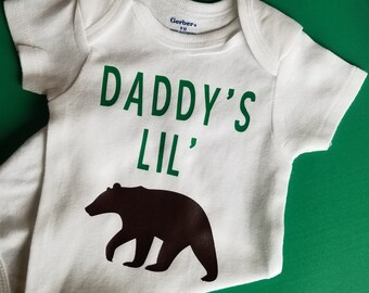 Daddy's Little Bear Baby Clothes, Bear Baby Clothes, Pregnancy Announcement, Gender Neutral Baby Clothes, Bear Baby Clothes, Dad To Be Gift