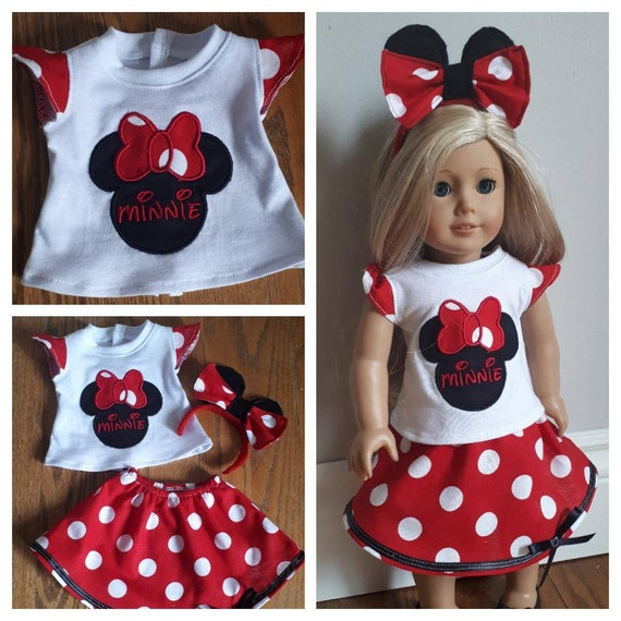 NEW GENERATION DOLL CLOTHES MINNIE MOUSE FIXING BOW SHIRT SHORTS FIT 18 IN DOLL