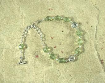 Flidais Prayer Bead Bracelet:  Irish Celtic Goddess of Animals and the Wilderness