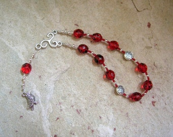 Morrigan Pocket Prayer Beads: Irish Celtic Goddess of War, Death and Sovereignty