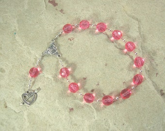 Anteros Pocket Prayer Beads: Greek God of Love Requited and Returned, Companion of Aphrodite, Eros and the Erotes