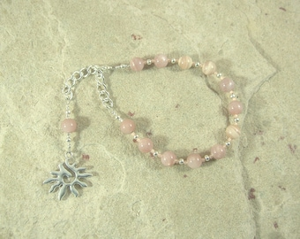 Eos Prayer Bead Bracelet in Sunstone: Greek Goddess of the Dawn