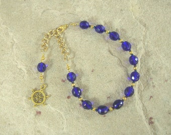 Tyche (Fortuna) Prayer Bead Bracelet: Greek Goddess of Luck, Chance and Prosperity, Mistress of the Wheel of Fortune