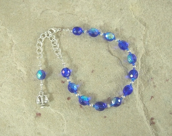 Themis Prayer Bead Bracelet: Greek Goddess of Universal Law and Justice, Mother of the Seasons or Hours (Horai)