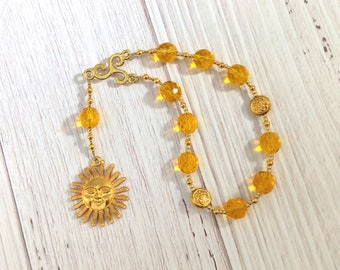 Belenos (Belenus) Pocket Prayer Beads: Gaulish Celtic God of the Sun