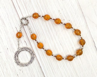 Apollo Pocket Prayer Beads with Laurel Wreath: Greek God of Music and the Arts, Health and Healing, Archery and the Sun