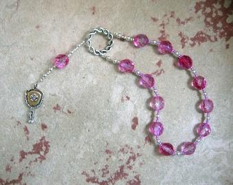 Aglaia Pocket Prayer Beads: Greek Goddess, Grace (Charis, Kharis) of Beauty