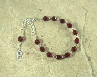 Nemesis Prayer Bead Bracelet: Greek Goddess of Vengeance and Retribution, Punisher of Those who have Evaded Justice