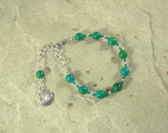 Ran Prayer Bead Bracelet in Chrysocolla: Norse Goddess of the Sea