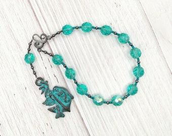 Amphitrite Pocket Prayer Beads: Queen of the Seas and Bride of Poseidon