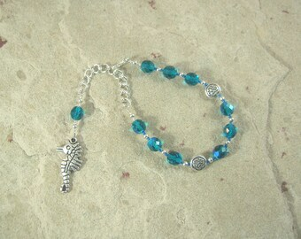 Manannan mac Lir Prayer Bead Bracelet: Irish Celtic God of the Sea