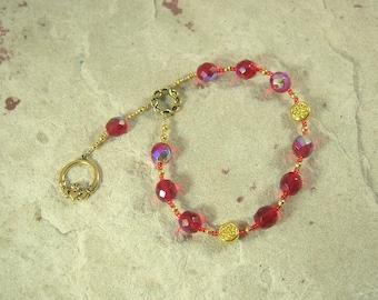 Aengus (Oengus, Angus) Pocket Prayer Beads: Irish Celtic God of Youth and Love
