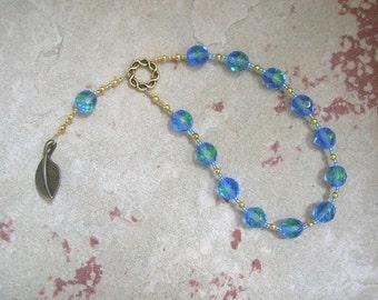 Nun (Nu) Pocket Prayer Beads: Egyptian God of the Primordial Abyss
