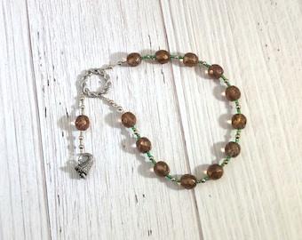 Euthenia Pocket Prayer Beads: Greek Goddess of Prosperity and Abundance