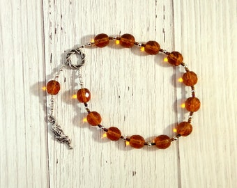 Mafdet Pocket Prayer Beads: Egyptian Goddess of Law and Justice, Protector from Poison