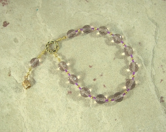 Methe Pocket Prayer Beads: Greek Goddess of Intoxication and Drunkenness, Companion of Bacchus
