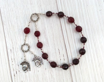 Phobos and Deimos Pocket Prayer Beads: Greek Gods of Fear and Terror, Sons of Aphrodite and Ares