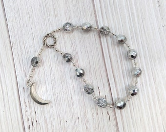 Selene Pocket Prayer Beads: Greek Goddess of the Moon, Goddess of the Night