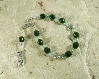 Cernunnos (Kernunnos) Pocket Prayer Beads: Gaulish Celtic God of Nature and Wild Beasts