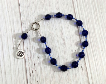 Hera Pocket Prayer Beads with Lotus: Greek Goddess of the Sky and Heavens, Marriage and Fidelity, and Queen of Olympus