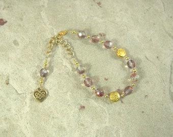 Medb (Maeve) Prayer Bead Bracelet:  Irish Celtic Goddess of Sovereignty, Sexuality and Intoxication