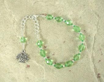 Khloris (Chloris) Prayer Bead Bracelet: Greek Goddess of Flowers