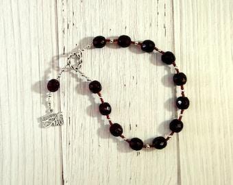 Wadjet Pocket Prayer Beads: Egyptian Cobra Goddess, Patron and Protector of Lower Egypt