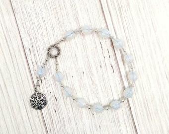 Chione (Khione) Pocket Prayer Beads: Greek Goddess of Snow, Winter Goddess