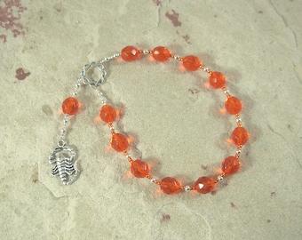 Serqet (Serket) Pocket Prayer Beads: Egyptian Goddess of Healing, Magic, Scorpions and Venomous Beasts