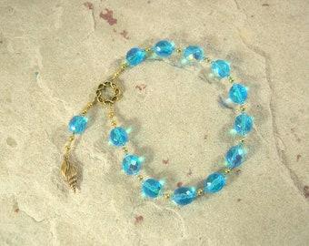 Leto Pocket Prayer Beads: Greek Goddess of Motherhood, Protector of Children, Mother of Artemis and Apollo