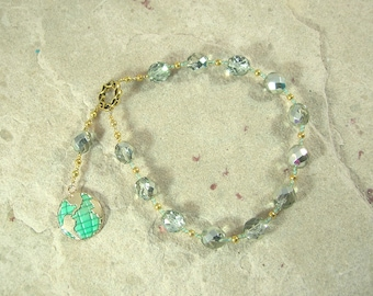 Gaia (Gaea) Pocket Prayer Beads: Mother Earth, Mother of the Gods, Mother of All That Is.