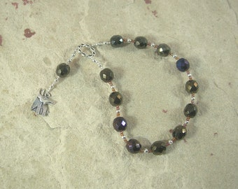Wepwawet Pocket Prayer Beads: Egyptian God of War and Protection, God of Possibilities