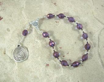 Ariadne Pocket Prayer Beads: Mistress of the Labyrinth, Bride of Dionysos (Dionysus), Princess of Crete