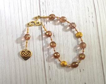 Medb (Maeve) Pocket Prayer Beads: Irish Celtic Goddess of Sovereignty, Sexuality and Intoxication
