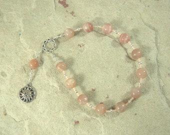 Helios Pocket Prayer Beads in Sunstone: Greek God of the Sun, All-Seeing Observer, Witness of Oaths