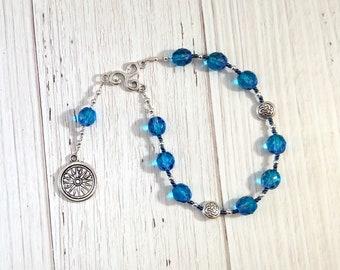 Grannus Pocket Prayer Beads: Gaulish Celtic God of Healing, God of Springs, Sun God