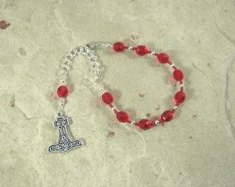 Thor Prayer Bead Bracelet:  Norse God of Thunder, Protector of Humanity