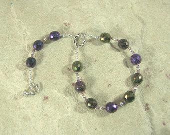 Heimdall Pocket Prayer Beads: Norse God, Guardian of Bifrost the Rainbow Bridge.
