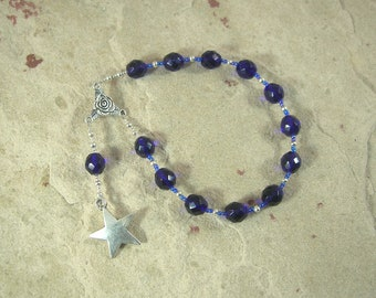 Asteria Pocket Prayer Beads: Greek Goddess of Astrology and Dream Prophecy, Mother of Hekate (Hecate)