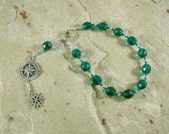 Boreas Pocket Prayer Beads: Greek God of the North Wind, God of Winter