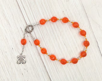 Apollo Pocket Prayer Beads with Lyre: Greek God of Music and the Arts, Health and Healing, Archery and the Sun