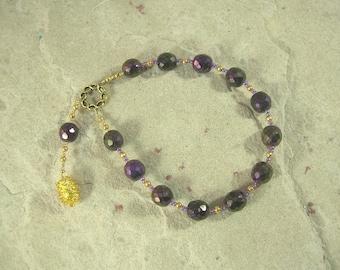 Semele (Thyone) Pocket Prayer Beads: Greek Goddess of Dionysiac Ecstasy and Frenzy, Mother of Dionysos (Dionysus)