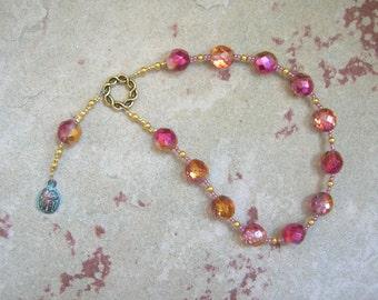 Khepera (Khepri) Pocket Prayer Beads: Egyptian God of Transformation, Rebirth and the Sun, Scarab God