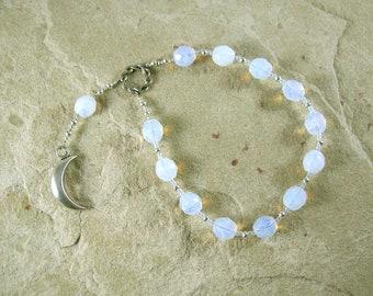 Khonsu Pocket Prayer Beads: Egyptian God of the Moon, God of Time