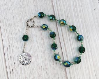 Mnemosyne Pocket Prayer Beads: Greek Goddess of Memory, Mother of the Muses