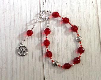 Taranis Pocket Prayer Beads: Gaulish Celtic God of Thunder, Fertility and Protection