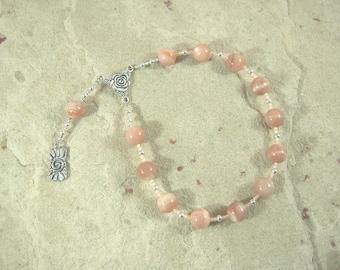 Hemera Pocket Prayer Beads in Sunstone: Greek Goddess of the Day, Daughter of the Night