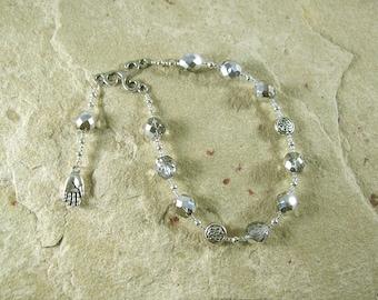 Nuada (Nuadu) Pocket Prayer Beads: Irish Celtic God of Battle and Kingship