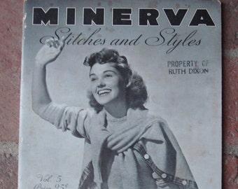 5ea19a1666 Vintage 1939 Minerva Knitting Book