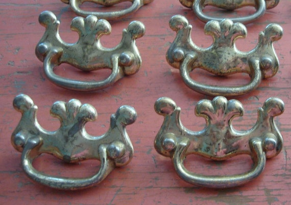 Vintage Metal Drawer Pull 4 Available Stable Handle Etsy
